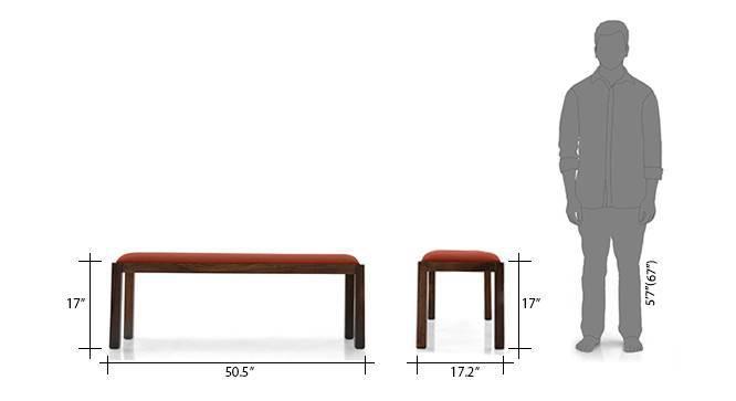 Brighton oribi 4 seater upholstered bench dining table set tk bo 11 12