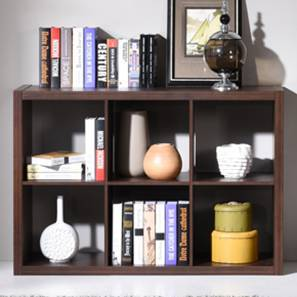 Boeberg Bookshelf Dark Walnut Finish 3 X 2 Configuration Without Inserts By