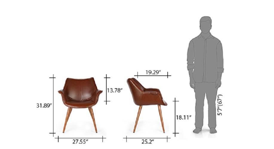 Keaton lounge chair brown set of 2 10 11