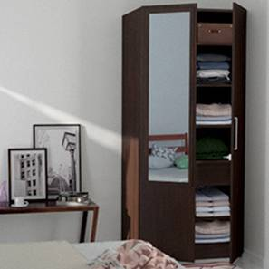 Domenico XL Wardrobe (Two Door, With Mirror Configuration) by Urban Ladder