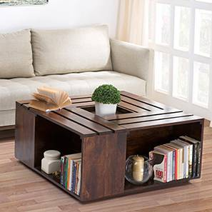 Penland Coffee Table(Walnut Finish, Without Cushion Configuration)