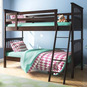Barnley Bunkbed (Dark Walnut Finish, Without Storage) by Urban Ladder