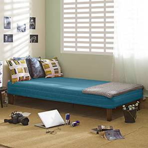 Mou Bed With Mattress (Teal) by Urban Ladder