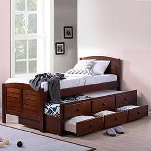 kids bunk bed with stairs queen size fitzroy single bed with trundle and storage single size dark walnut finish kids beds buy beds bunk