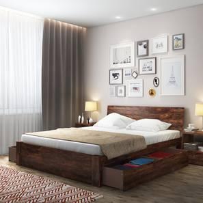 Boston Storage Bed (Teak Finish, Queen Bed Size) by Urban Ladder