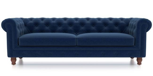 Winchester Fabric Sofa (Cobalt Blue) (Cobalt, Fabric Sofa Material, Regular Sofa Size, Regular Sofa Type)