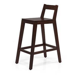 Mosby Bar Stool (Mahogany Finish) by Urban Ladder