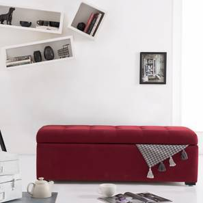 Carson Upholstered Storage Bench (Sangria Red) by Urban Ladder