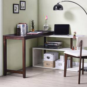 Tolstoy Study Table Dark Walnut Finish By Urban Ladder