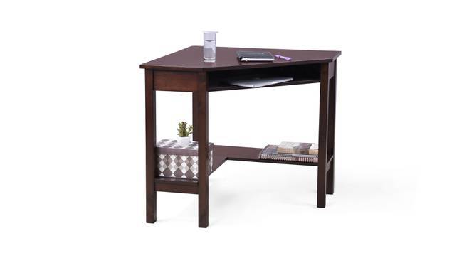 Collins Corner Study Table (Dark Walnut Finish) by Urban Ladder