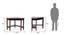 Collins Corner Study Table (Dark Walnut Finish) by Urban Ladder