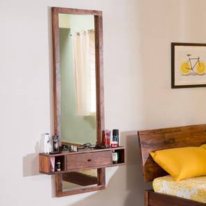 Theia Mirror (Teak Finish) by Urban Ladder