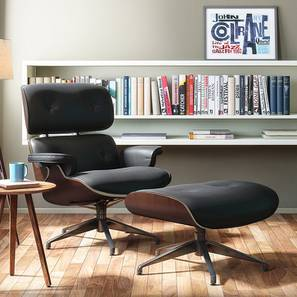1956 Lounge & Ottoman Replica (Black) by Urban Ladder