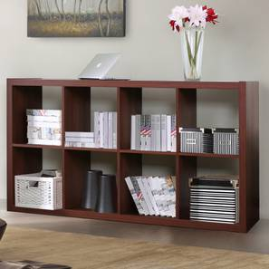 Boeberg Bookshelf Dark Walnut Finish 4 X 2 Configuration Without Inserts By
