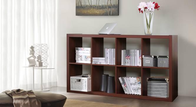 Boeberg Bookshelf (Dark Walnut Finish, 4 x 2 Configuration, Without Inserts) by Urban Ladder