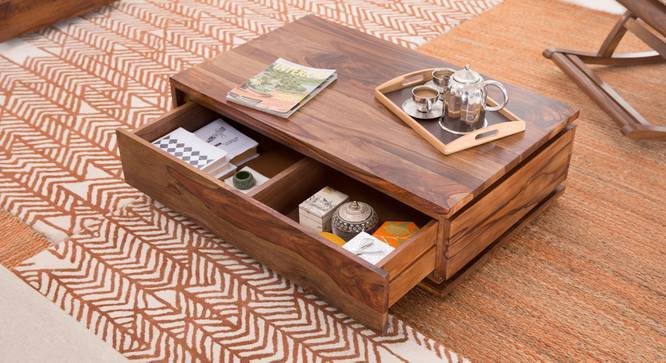 Vector Storage Coffee Table (Teak Finish) by Urban Ladder
