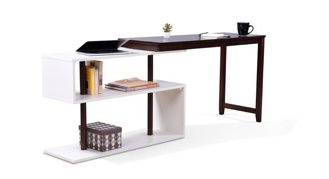 Tolstoy - Adams Study Set (Grey, Dark Walnut Finish) by Urban Ladder