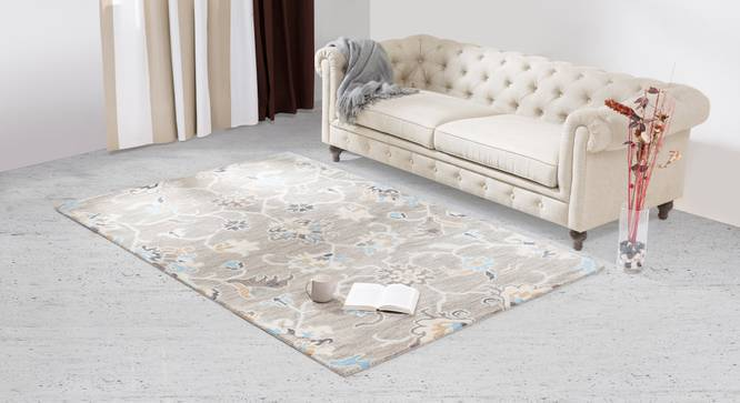 "Sardis Hand Tufted Carpet (60'' x 93"" Carpet Size, Fossil Grey) by Urban Ladder"
