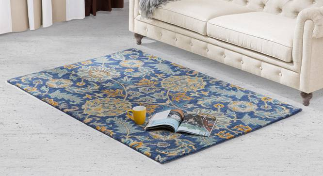 "Sardis Hand Tufted Carpet (48"" x 72"" Carpet Size, Prussian Blue) by Urban Ladder"