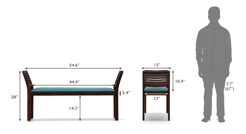 Latt upholstery bench green 06 7