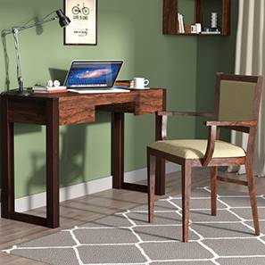 Austen Compact - Aurelio Study Sets (Two-Tone Finish, Sandstorm) by Urban Ladder