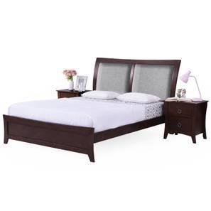 Packard Essential Bedroom Set (Queen Bed Size, Dark Walnut Finish) by Urban Ladder