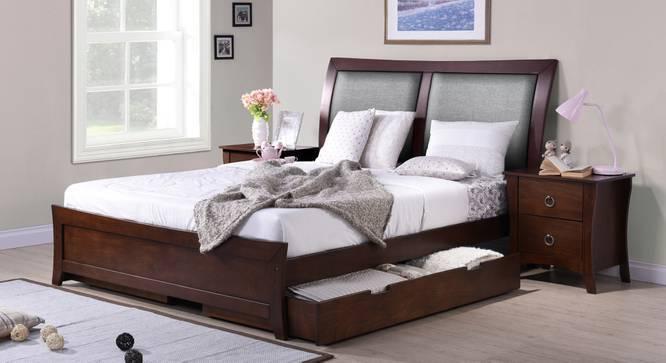 Packard Storage Bed (King Bed Size, Dark Walnut Finish) by Urban Ladder