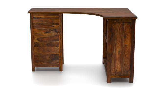 Dickens Corner Desk (Teak Finish) by Urban Ladder
