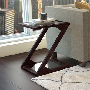 Zeta Side Table (Mahogany Finish) by Urban Ladder