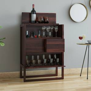 Macallan Bar Unit (Mahogany Finish) by Urban Ladder