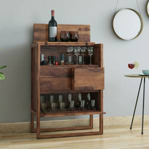 Macallan Bar Unit (Teak Finish) by Urban Ladder