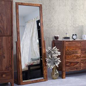 Sirius Standing Mirror (Teak Finish) by Urban Ladder