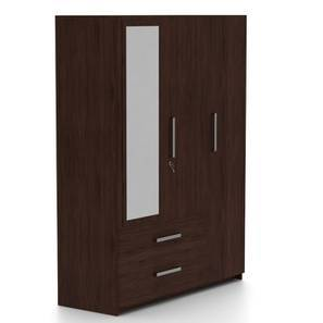 Domenico Wardrobe (Three Door, Yes Mirror, With Drawer Configuration) by Urban Ladder