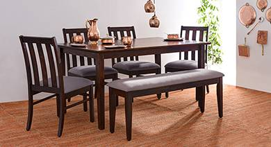 wooden dining table set Dining Table Set & Designs: Find Glass & Wooden Dining Tables  wooden dining table set