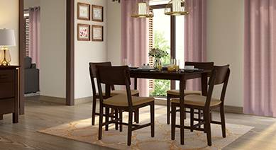 4 seater dining set ripley dexter 4seater buy seater wooden dining sets online in india urban ladder