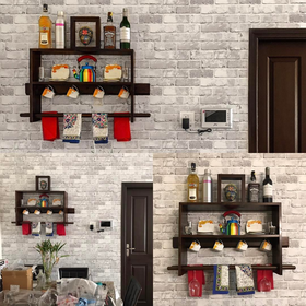 #ULstory with the new house in making, always wanted to have something go with dark doors and brick wall. And UrbanLadder sort it out. Everything perfect with this UL Ibex 2 Tier Shelf.